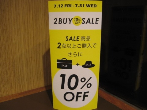 2BUY10%OFF SALE!